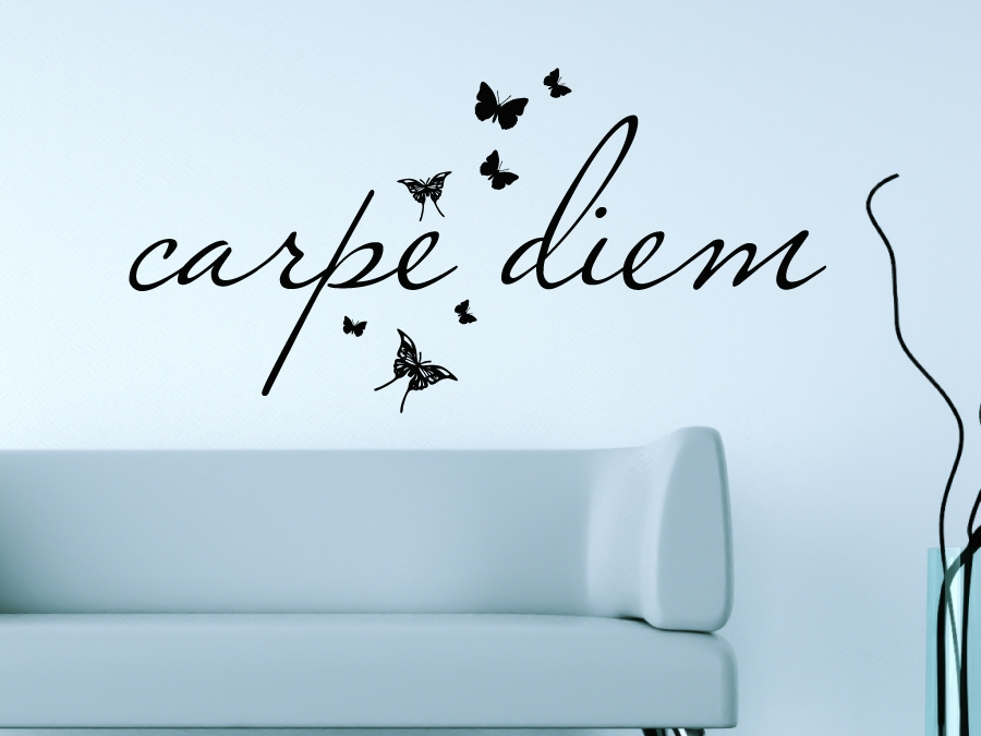 wandtattoo wandsticker wandaufkleber carpe diem. Black Bedroom Furniture Sets. Home Design Ideas