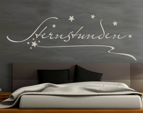 wandtattoo wandaufkleber wandwort sternstunden von wandtattoos von. Black Bedroom Furniture Sets. Home Design Ideas