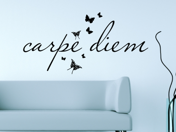 wandtattoo wandsticker wandaufkleber carpe diem wandtattoos von. Black Bedroom Furniture Sets. Home Design Ideas