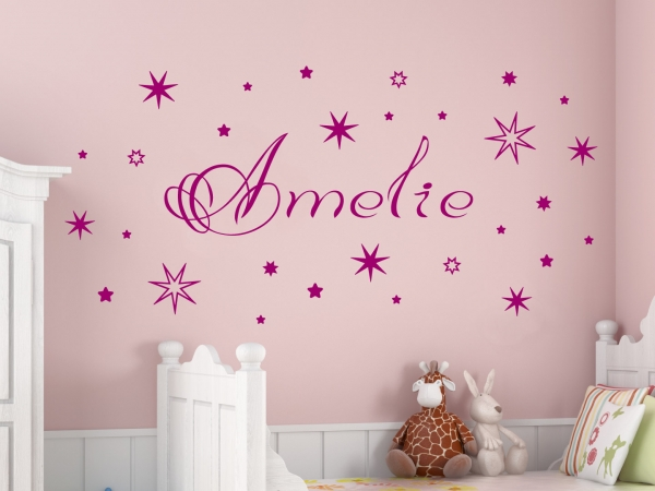 wandtattoo wandsticker wandaufkleber baby name wandtattoos von. Black Bedroom Furniture Sets. Home Design Ideas
