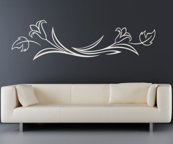 wandtattoo wandaufkleber blume blumenranke traumhafte blumen von. Black Bedroom Furniture Sets. Home Design Ideas