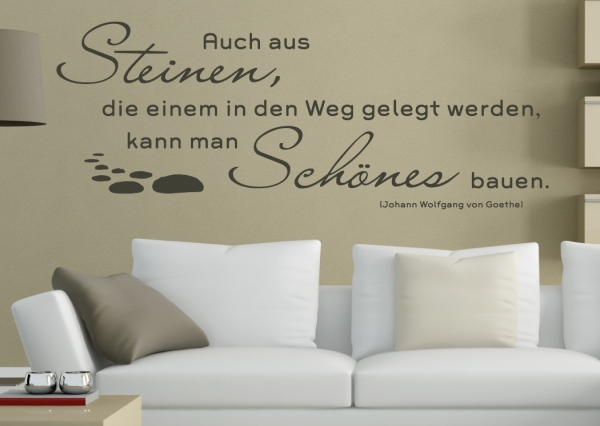 wandtattoo wandaufkleber wandzitat von wolfgang von. Black Bedroom Furniture Sets. Home Design Ideas